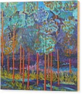 Twilight In The Canyon Wood Print