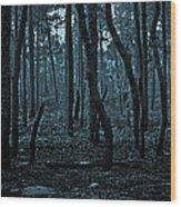 Twilight In The Smouldering Forest Wood Print