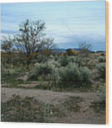 Twilight Near Santa Fe Wood Print