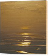 Twilight Over A Wetland With Meandering Wood Print