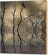 Twilight Wood Print by Sharon Lisa Clarke