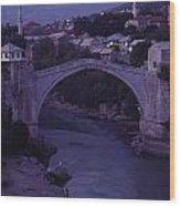 Twilight View Of A 15th-century Bridge Wood Print