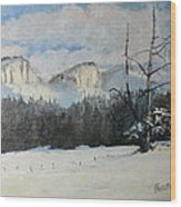 Twin Buttes Wyoming Wood Print