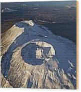 Twin Craters Atop Krasheninnikov Wood Print