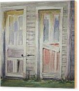 Twin Doors Wood Print