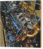 Twin Engines Wood Print