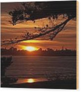 Twin Lakes Sunset Wood Print