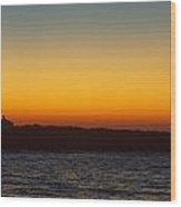 Twin Lights At Thacher Island Wood Print