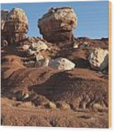 Twin Rocks Capitol Reef Np Wood Print