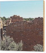 Twin Towers At Hovenweep Wood Print