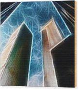Twin Towers Wood Print by Paul Ward