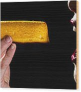 Twinkie Bite Wood Print