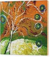 Twirl Pop Tree Wood Print by Pretchill Smith