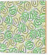 Twirls Wood Print by Louisa Knight