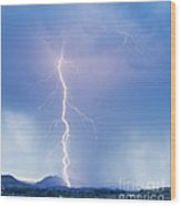 Twisted Lightning Strike Colorado Rocky Mountains Wood Print