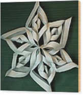 Twisted Paper Christmas Star Wood Print