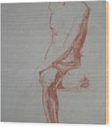 Twisted Sitting Man Wood Print