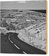 Twisty Country Mountain Road Through Glenaan Scenic Route Glenaan County Antrim  Wood Print