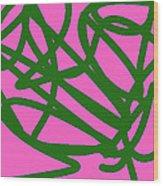 Twisty Green Thing Wood Print