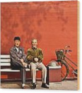 Two Amigos At Forbidden City Beijing Wood Print