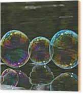 Two And A Half Bubbles Wood Print