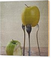 Two Apples Wood Print