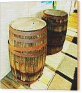 Two Barrels 2 Wood Print