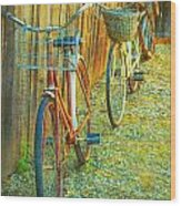 Two Bicyles Wood Print