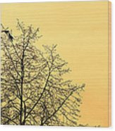 Two Birds In A Tree Wood Print