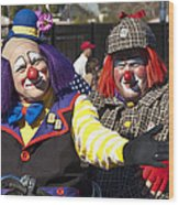 Two Clowns Wood Print
