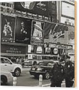 Two Cops On Broadway Wood Print