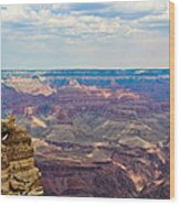 Two Crows Watch Over The Canyon Wood Print