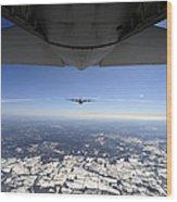 Two Ec-130j Commando Solo Aircraft Fly Wood Print