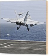 Two Fa-18c Hornet Strike Fighters Wood Print
