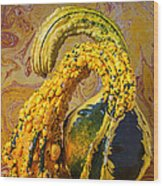 Two Gourds Wood Print