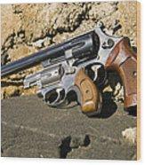 Two Hand Guns Wood Print