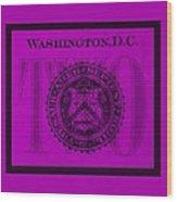 Two In Purple Wood Print
