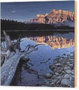 Two Jack Lake Banff Canada Wood Print