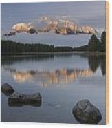 Two Jack Lake, Banff National Park Wood Print