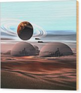 Two Jet Aircraft Fly Over Dome Wood Print
