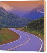 Two Lane Country Road In Mountains Wood Print