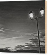 Two Lights At The Sunset Wood Print