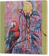 Captive Birds Of The Rain Forest Wood Print