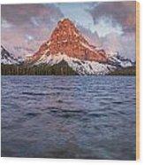 Two Medicine Lake Panorama Wood Print