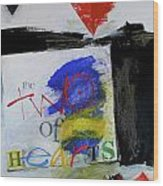 Two Of Hearts 37-52 Wood Print