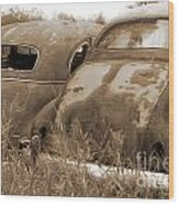 Two Old Rear Ends-sepia Wood Print