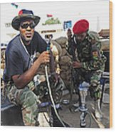 Two Rebel Fighters Man A Checkpoint Wood Print