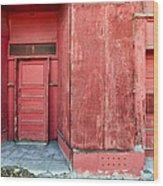 Two Red Doors Wood Print by James Steele