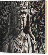 Two Sides Of Buddha Wood Print