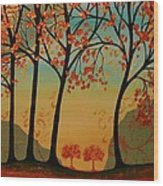 Two Small Trees Wood Print